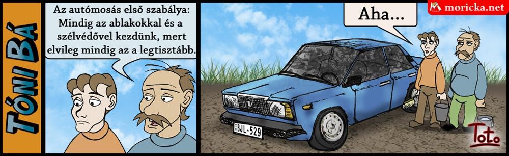 Tóni bá - autómosás